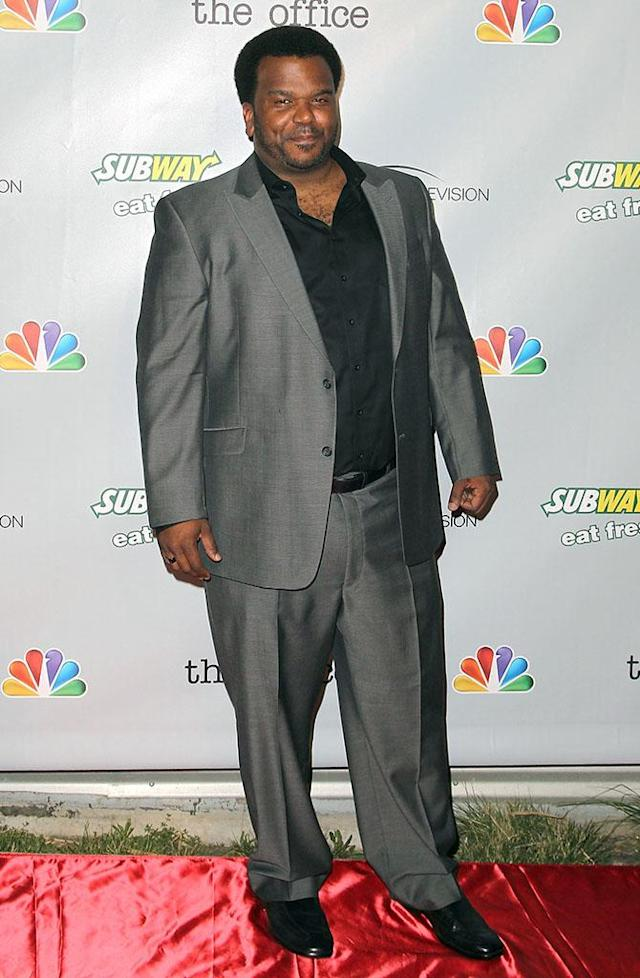 """Craig Robinson arrives at """"The Office"""" series finale wrap party at Unici Casa Gallery on March 16, 2013 in Culver City, California."""