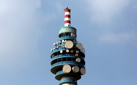 FILE PHOTO: The Mediaset tower is seen in Cologno Monzese neighbourhood Milan