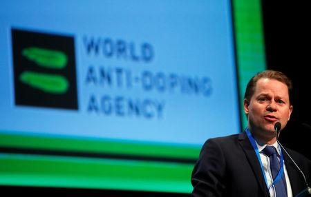 Niggli Director General of the WADA attends the WADA Symposium in Ecublens