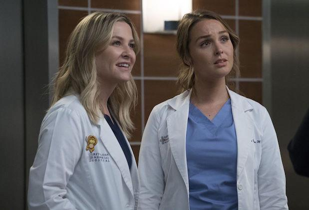 """At last, with the midseason premiere of Grey's Anatomy, we could pick our jaws up off the floor after the winter-finale cliffhanger left Jo face to smug face with her abusive husband, Paul. In """"1-800-799-2233,"""" she was horrified to learn that he had a new fiancée, Jenny, then even more horrified to learn that he'd […]"""