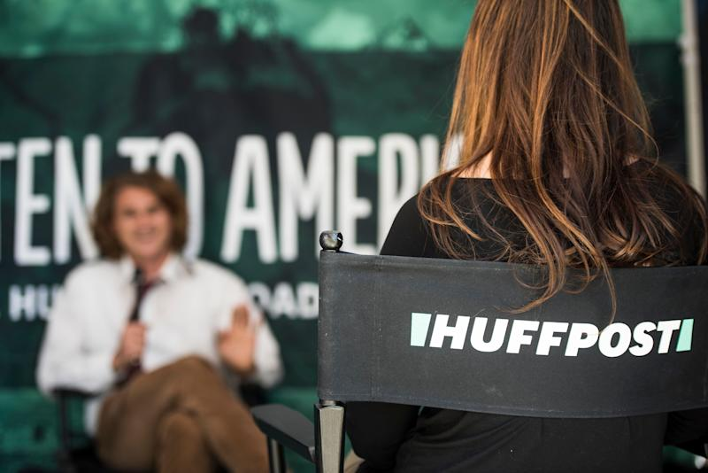 One of multiple interviews is conducted during HuffPost's visit to Provo.