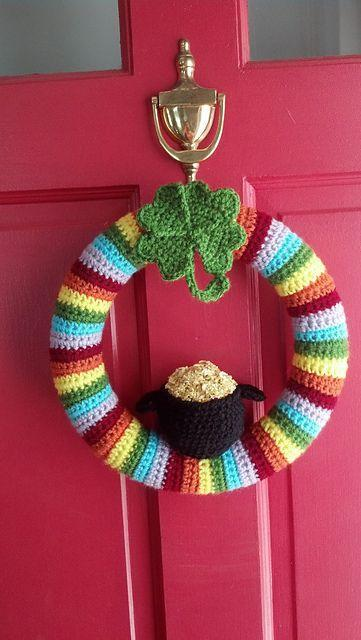 """<p>If you've got a knack for crocheting, this adorable pattern will spruce up your front door just in time for March 17.</p><p><strong>Get the tutorial at <a href=""""https://www.skiptomylou.org/free-st-patricks-day-crochet-patterns/"""" rel=""""nofollow noopener"""" target=""""_blank"""" data-ylk=""""slk:Skip to My Lou"""" class=""""link rapid-noclick-resp"""">Skip to My Lou</a>.</strong></p><p><strong><a class=""""link rapid-noclick-resp"""" href=""""https://www.amazon.com/BEST-12-CROCHET-ERGONOMIC-HANDLES-COMFORT-Extra-Long-Crochet-Hooks-perfect-Smooth-Needles/dp/B072LC5SMF/?tag=syn-yahoo-20&ascsubtag=%5Bartid%7C10050.g.4036%5Bsrc%7Cyahoo-us"""" rel=""""nofollow noopener"""" target=""""_blank"""" data-ylk=""""slk:SHOP CROCHET HOOKS"""">SHOP CROCHET HOOKS</a><br></strong></p>"""