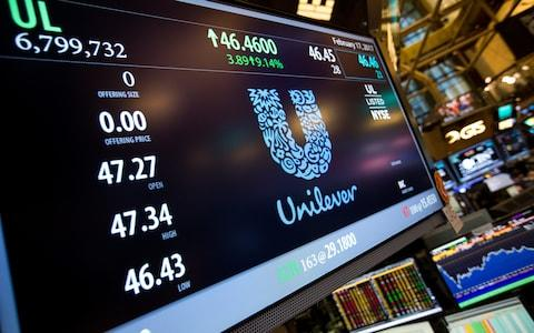 Unilever shares fell on a weaker sales quarter