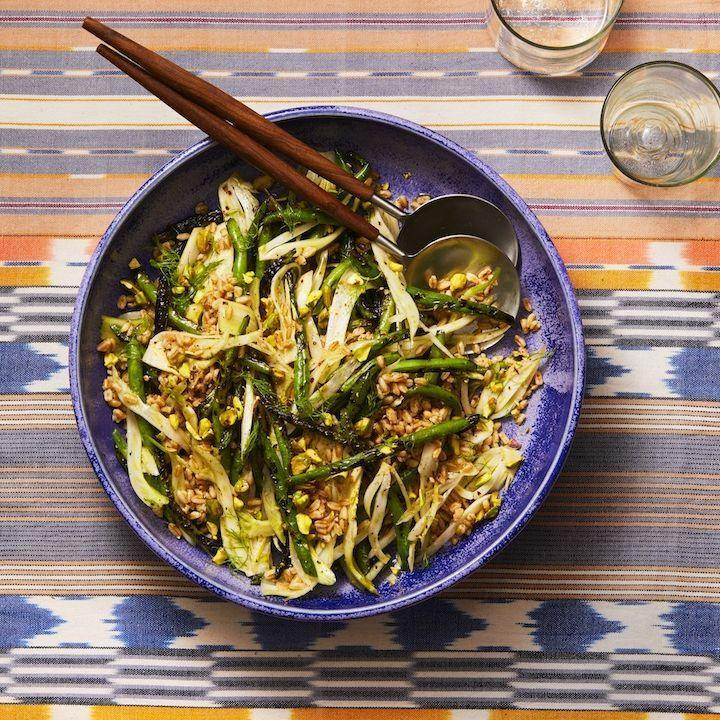 "<p>Grilling the green beans before tossing them in this hearty grain salad gives a vegetarian side dish great charred flavor.</p><p><em><a href=""https://www.goodhousekeeping.com/food-recipes/a28186104/grilled-green-beans-fennel-and-farro-recipe/"" rel=""nofollow noopener"" target=""_blank"" data-ylk=""slk:Get the recipe for Grilled Green Beans, Fennel, and Farro »"" class=""link rapid-noclick-resp"">Get the recipe for Grilled Green Beans, Fennel, and Farro »</a></em></p>"