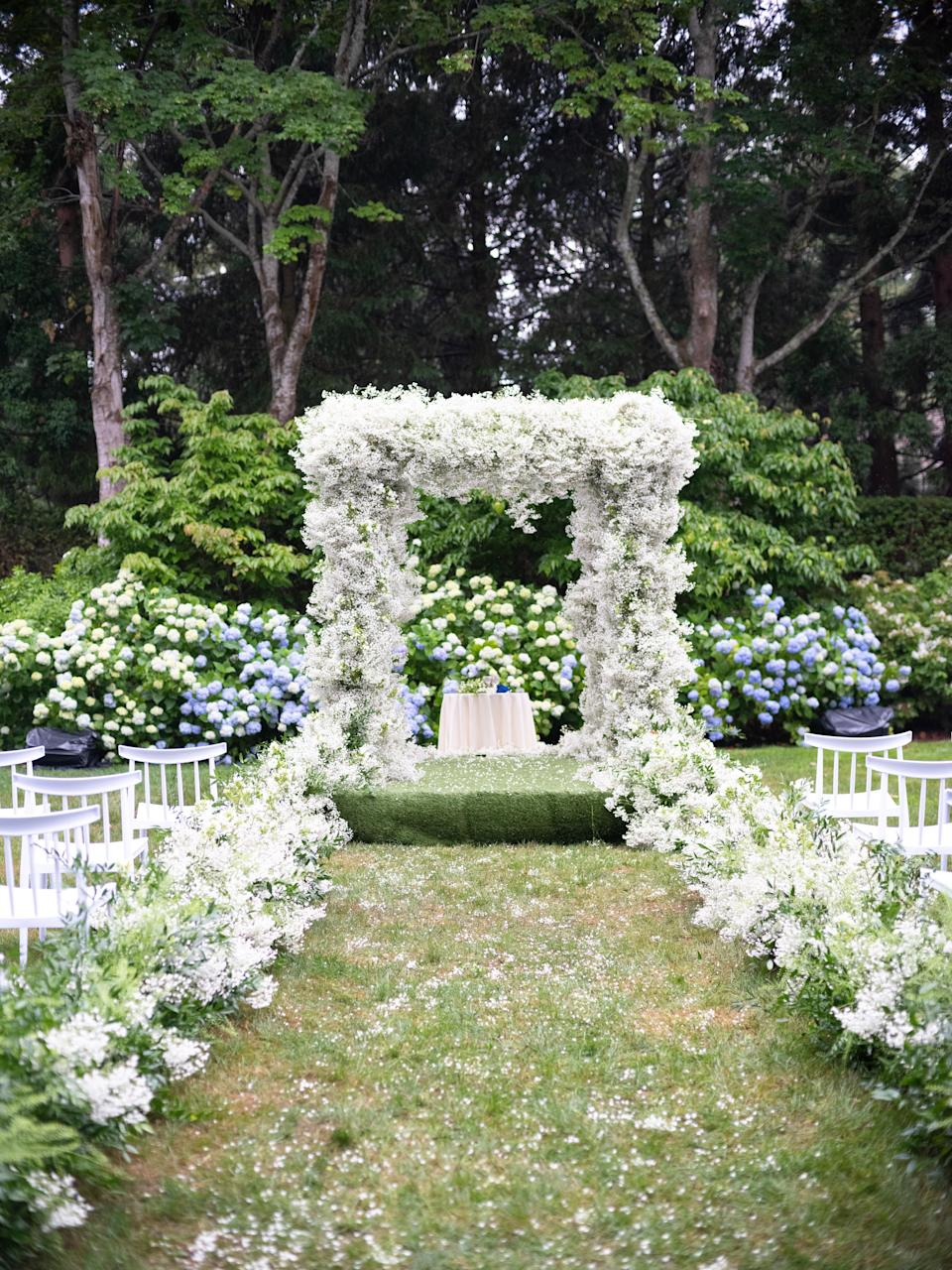 The rain blew the baby's breath from the chuppah all over the backyard. The aftermath was magical.