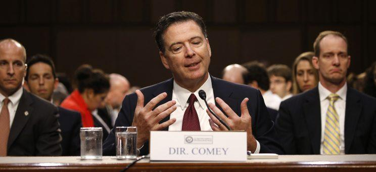 Former FBI Director James Comey testifies before a Senate intelligence committee hearing on Russia's alleged interference in the 2016 U.S. presidential election on Capitol Hill June 8, 2017. (Photo: Jonathan Ernst/Reuters)