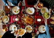 """<p>Chef Tom Valenti's strategy for this menu? The stuffing can be made in advance, as well as the soup, the compote, and the desserts.</p><p><strong>Starters:</strong></p><p> Artisanal cheese plate, olive bread, French baguette</p><p><a href=""""https://www.countryliving.com/food-drinks/recipes/a1441/roasted-parsnip-soup-3556/"""" rel=""""nofollow noopener"""" target=""""_blank"""" data-ylk=""""slk:Roasted Parsnip Soup"""" class=""""link rapid-noclick-resp"""">Roasted Parsnip Soup</a></p><p><strong>Main Course:</strong></p><p><a href=""""https://www.countryliving.com/food-drinks/recipes/a1060/roast-capon-3166/"""" rel=""""nofollow noopener"""" target=""""_blank"""" data-ylk=""""slk:Roast Capon"""" class=""""link rapid-noclick-resp"""">Roast Capon</a></p><p><strong>Side Dishes:</strong></p><p><a href=""""https://www.countryliving.com/food-drinks/recipes/a1711/chestnut-sausage-stuffing-3828/"""" rel=""""nofollow noopener"""" target=""""_blank"""" data-ylk=""""slk:Chestnut and Sausage Stuffing"""" class=""""link rapid-noclick-resp"""">Chestnut and Sausage Stuffing</a></p><p><a href=""""https://www.countryliving.com/food-drinks/recipes/a1617/spiced-apricot-cranberry-golden-raisin-compote-3730/"""" rel=""""nofollow noopener"""" target=""""_blank"""" data-ylk=""""slk:Spiced Apricot, Cranberry, and Golden Raisin Compote"""" class=""""link rapid-noclick-resp"""">Spiced Apricot, Cranberry, and Golden Raisin Compote</a></p><p><a href=""""https://www.countryliving.com/food-drinks/recipes/a1108/toms-perfect-mashed-potatoes-3216/"""" rel=""""nofollow noopener"""" target=""""_blank"""" data-ylk=""""slk:Tom's Perfect Mashed Potatoes"""" class=""""link rapid-noclick-resp"""">Tom's Perfect Mashed Potatoes</a></p><p><a href=""""https://www.countryliving.com/food-drinks/recipes/a1810/sauteed-kale-garlic-red-onions-3947/"""" rel=""""nofollow noopener"""" target=""""_blank"""" data-ylk=""""slk:Sauteed Kale with Garlic and Red Onions"""" class=""""link rapid-noclick-resp"""">Sauteed Kale with Garlic and Red Onions</a></p><p><strong>Desserts:</strong></p><p><a href=""""https://www.countryliving.com/food-drinks/recipes/a1497/roasted-pear-maple-cream-trifle-3618/"""" rel="""""""