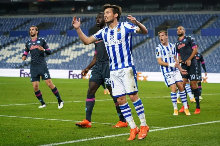 On target: Real Sociedad's Spanish midfielder David Silva
