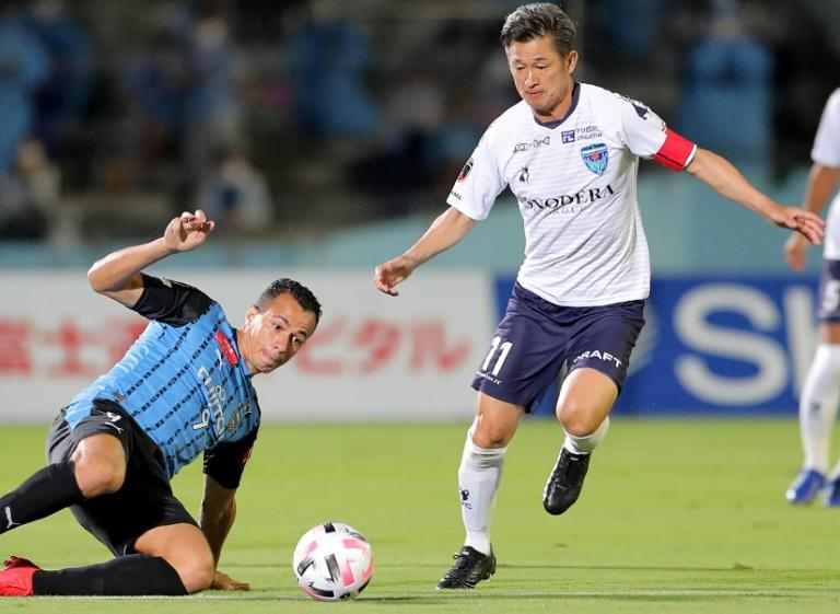 Japan's 'King Kazu' breaks records again in J-League match