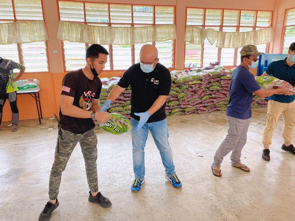 Harith said his team has successfully distributed aid to close to 2,000 Orang Asli families. — Picture courtesy of The Hope Branch