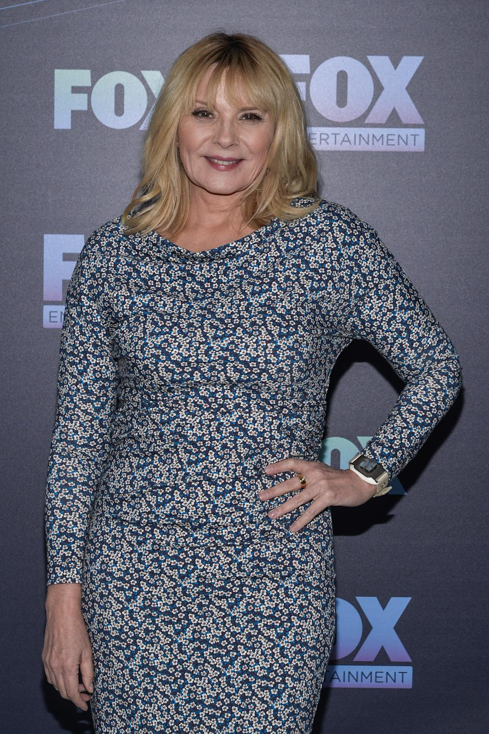 NEW YORK - MAY 13: Kim Cattrall attends the Fox 2019 Upfront Red Carpet arrivals at the Wollman Rink in Central Park on May 13, 2019 in New York City. (Photo by Anthony Behar/Fox/PictureGroup/Sipa USA)