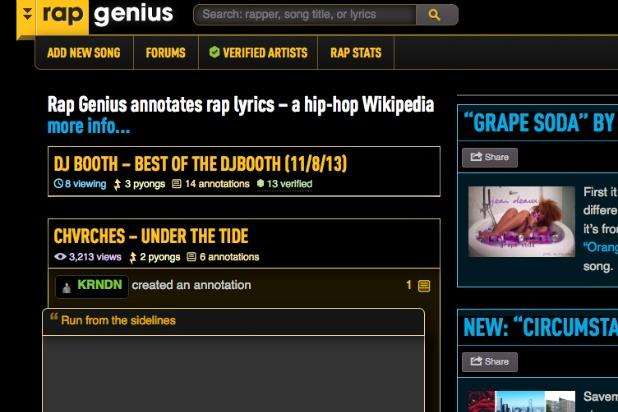 RapGenius Responds to Claims of Copyright Infringement From Songwriters