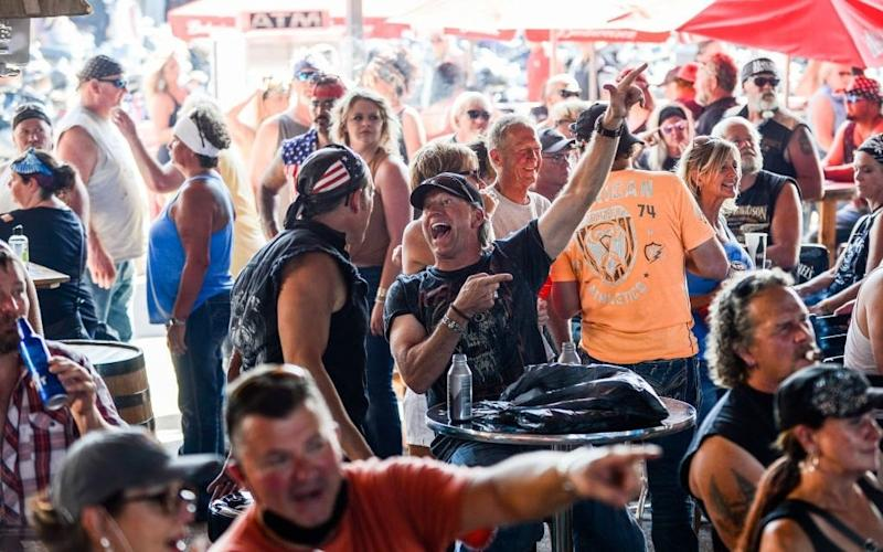 South Dakota held a huge motorcycle rally in August, where 460,000 revellers gathered amid the pandemic - Getty
