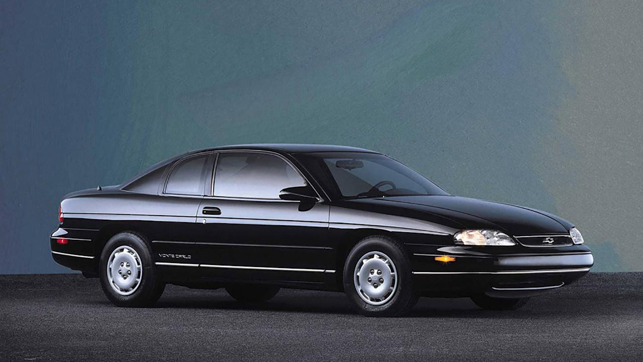 "<p>The 1995 model year marked the return of the Monte Carlo nameplate after <a rel=""nofollow"" href=""https://www.motor1.com/chevrolet/"">Chevy</a> discontinued the car in 1988. However, it wasn't the raucous two-door of yesteryear. In 1995, Chevy split its Lumina into two models – the Lumina sedan and a coupe version, which received the Monte Carlo nameplate.</p> <p>The new Monte had no V8 engine, and it didn't have rear-wheel drive either. Two V6 engine choices were available – a 160-horsepower 3.1-liter V6 or a 215-hp 3.4-liter V6. A four-speed automatic was the only transmission option available. The Monte Carlo went virtually unchanged throughout the rest of the decade until its significant redesign for the 2000 model year.</p>"