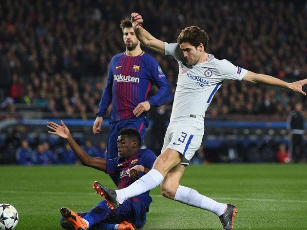 """Chelsea defender Marcos Alonso has said his side would be in the top four if they replicated their performance against Barcelona on a regular basis. The Spanish defender, who has flourished in his left wing back role over the last two seasons, told the Independent that his side need to learn from their defeat to La Liga leaders Barcelona. """"Well, if we play every game like we played against Barcelona then yes [we would be in top four],"""" Alonso said. """"But it's not the case so it's another..."""