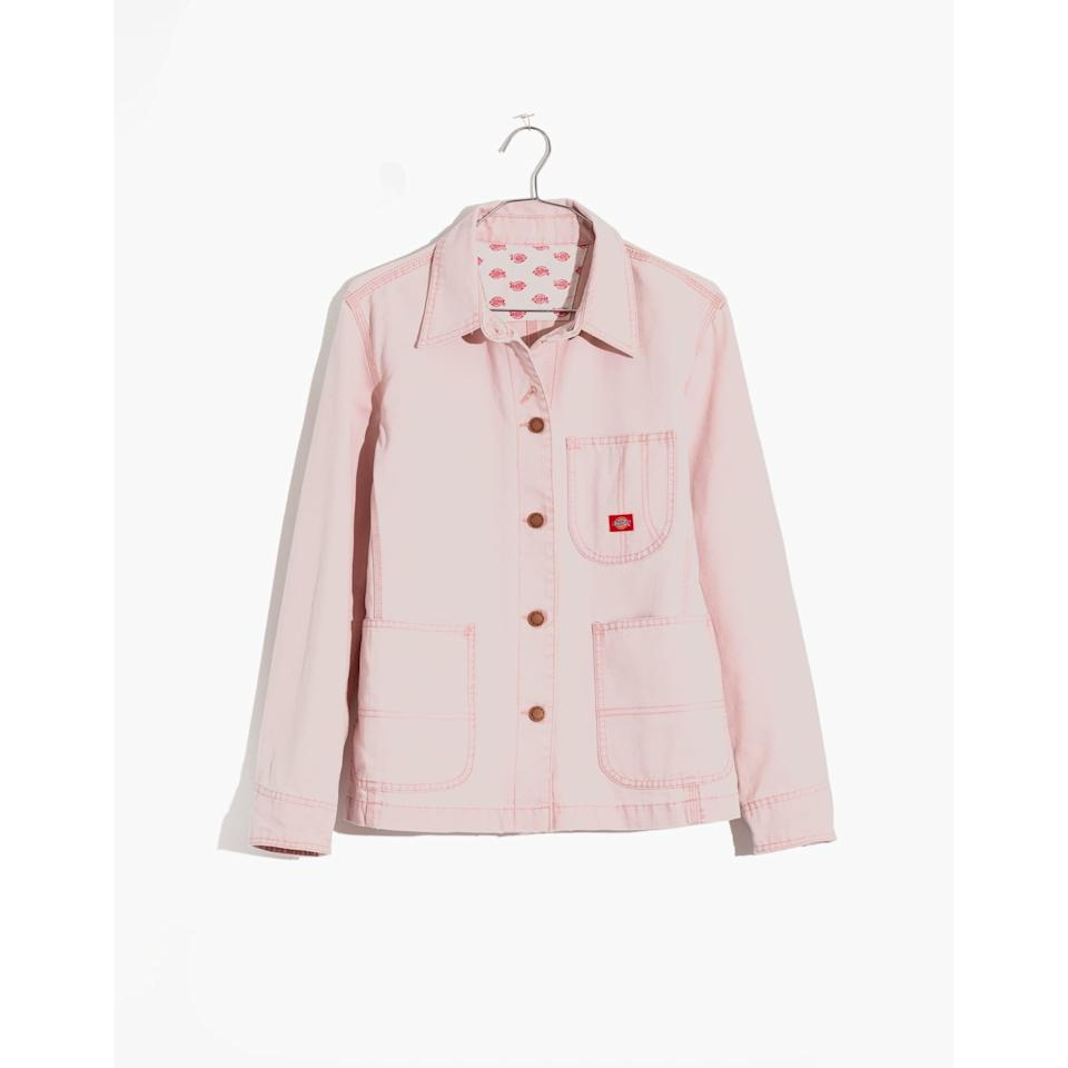 """<p>This shade of mauve feels like the grown-up and more feminine pink hue to add to your wardrobe.</p> <p><strong>To buy: </strong>$128; <a href=""""http://www.anrdoezrs.net/links/7876406/type/dlg/sid/RS%2CEverythingYou%25E2%2580%2599llWanttoBuyFromtheNewMadewellxDickiesCollab%2Cjdavidson805%2CSTY%2CIMA%2C675455%2C201909%2CI/https://www.madewell.com/on/demandware.store/Sites-madewellUS-Site/en_US/Product-Multisell?externalProductCodes=AC231,AB734,AA705,B7493,AA185&source=multisell"""" target=""""_blank"""">madewell.com</a></p>"""