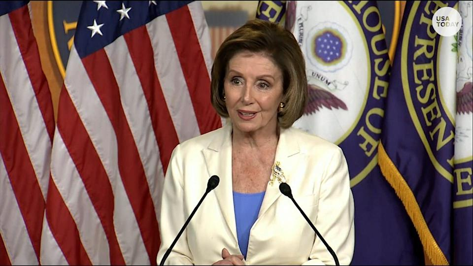 """In her announcement, Pelosi said it is """"imperative"""" to find out the truth of what happened that day."""