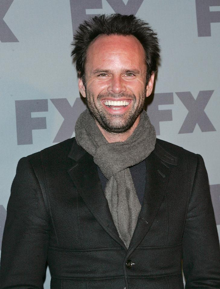 "Walton Goggins (""<a href=""http://tv.yahoo.com/justified/show/45070"">Justified</a>"") attends FX's 2012 Upfronts at Lucky Strike on March 29, 2012 in New York City."