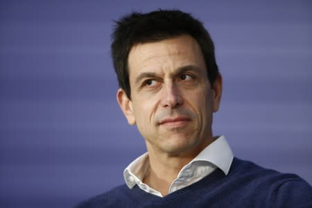 Formula 1 Mercedes AMG Petronas Motorsport team chief Wolff attends FIA news conference in St. Petersburg