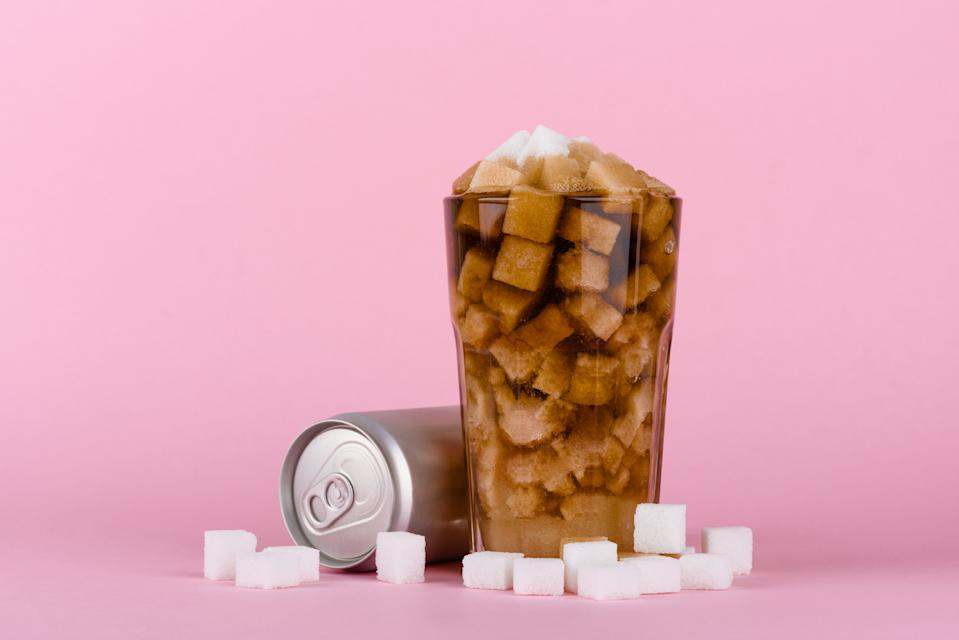 Cutting out soda will instantly decrease your sugar intake. (Photo: Getty Images)