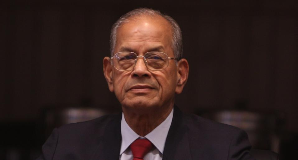 'Metro Man' E Sreedharan during the launch of a coffee table book chronicling the story of Delhi Metro, in New Delhi. Photo: Mohd Zakir/Hindustan Times via Getty Images