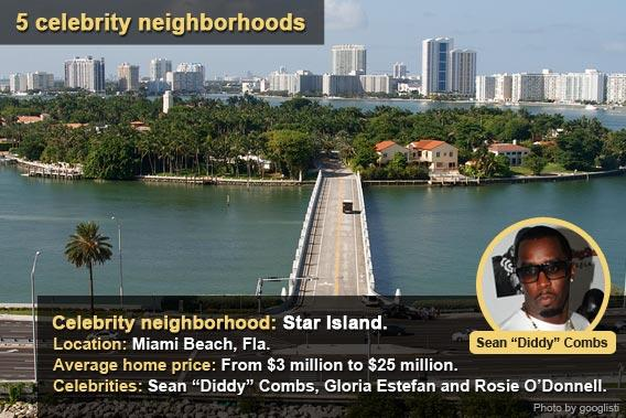 5 celebrity neighborhoods - Star Island