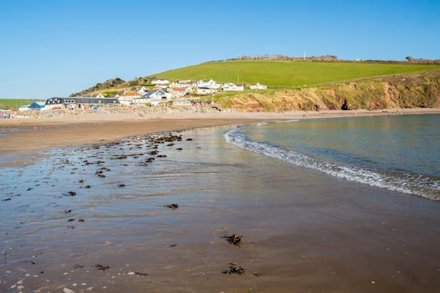 The beautiful beach at Challaborough Bay Devon England UK Europe