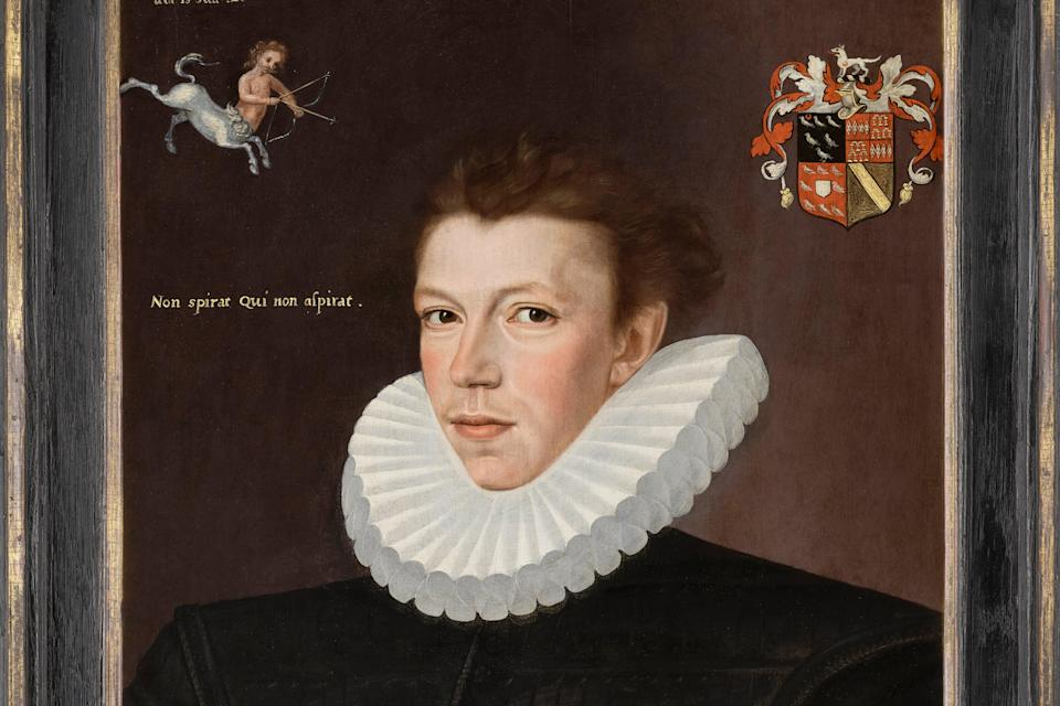 <p>Detail of a portrait of William Arundell by George Gower, 1580</p> (Phillip Mould & Company)