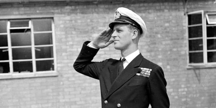 Lieutenant Philip Mountbatten, then the husband of Princess Elizabeth, resumes his attendance at the Royal Naval Officers' School at Kingsmoor in Hawthorn, Wiltshire on July 31, 1947