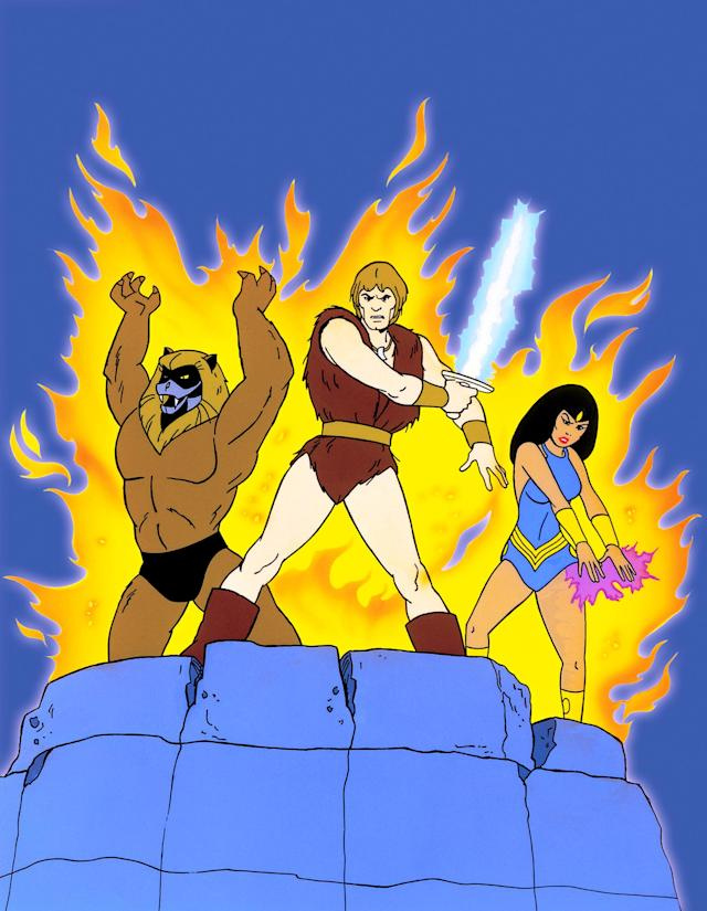 Thundarr wields his sun sword in <em>Thundarr the Barbarian</em>, one of many Saturday morning cartoons that Buzz Dixon worked on. (Photo: Ruby-Spears/courtesy: Everett Collection)