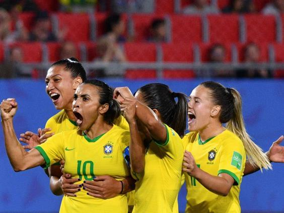 Brazil secured their place in the last 16 by sealing third place in Group C (AFP/Getty)