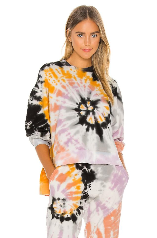 """<p>They'll never want to take this cozy <product href=""""https://www.revolve.com/electric-rose-neil-sweatshirt/dp/EOSR-WK5/?d=Womens&amp;page=1&amp;lc=86&amp;itrownum=22&amp;itcurrpage=1&amp;itview=05"""" target=""""_blank"""" class=""""ga-track"""" data-ga-category=""""internal click"""" data-ga-label=""""https://www.revolve.com/electric-rose-neil-sweatshirt/dp/EOSR-WK5/?d=Womens&amp;page=1&amp;lc=86&amp;itrownum=22&amp;itcurrpage=1&amp;itview=05"""" data-ga-action=""""body text link"""">Electric &amp; Rose Neil Sweatshirt</product> ($158) off.</p>"""