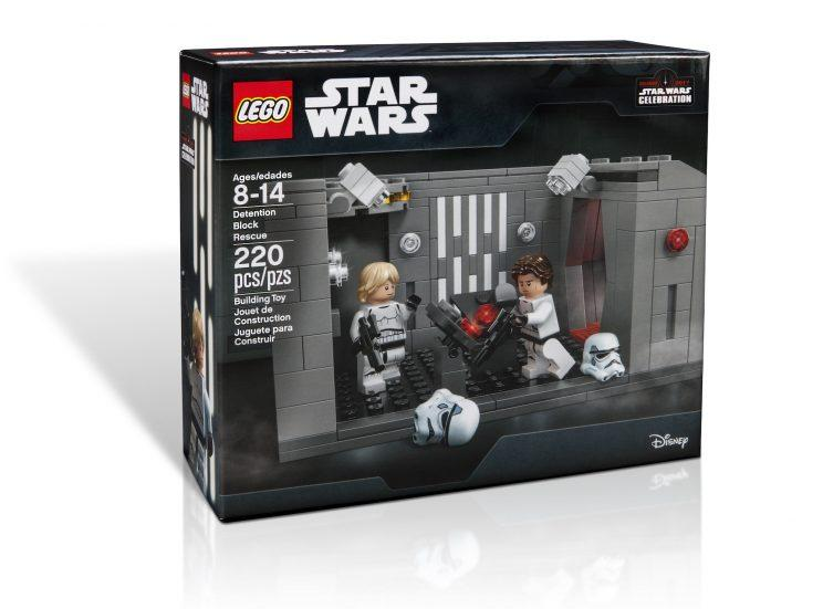 Lego Star Wars Celebration Exclusive Detention Rescue Death Star Han Luke