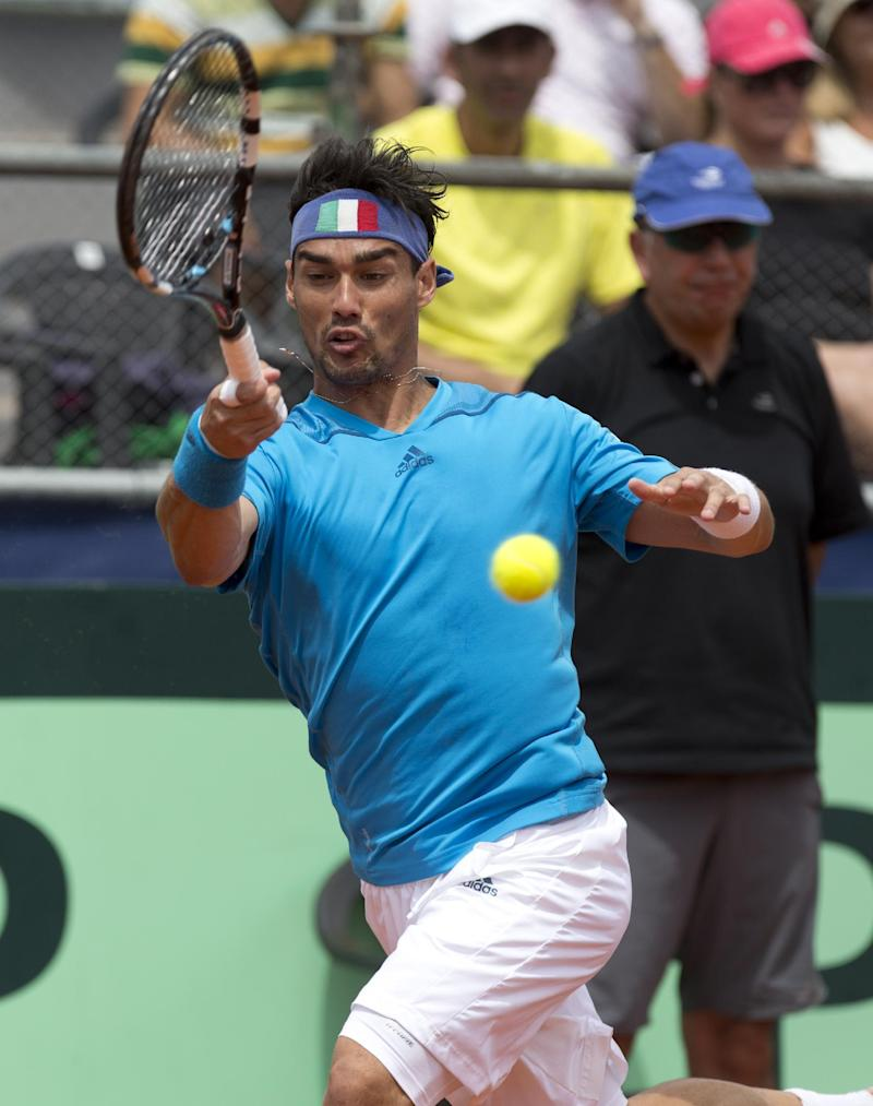 Top-seeded Fognini reaches quarterfinals in Chile