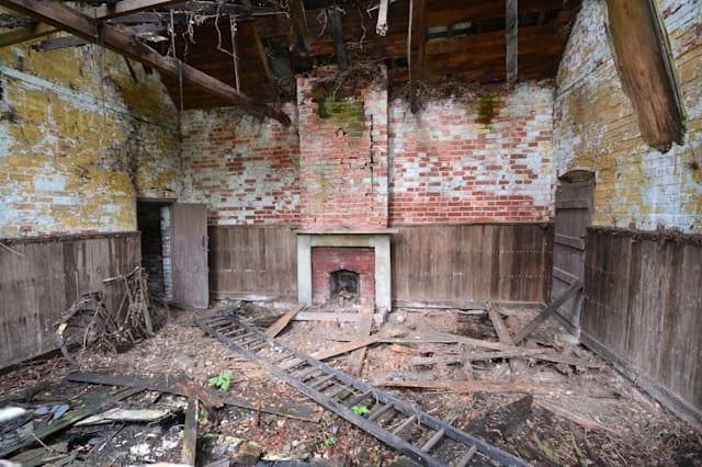 The mess in the derelict building