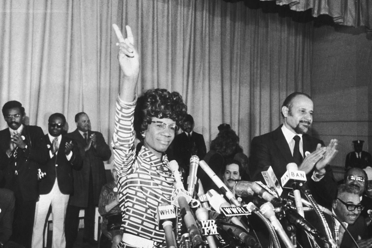 <p>Chisholm announced her entry into the Democratic presidential primary, making her the first woman and the first African American to campaign for the presidency through a major political party. Chisholm made this landmark announcement at the Concord Baptist Church in Brooklyn, New York. </p>