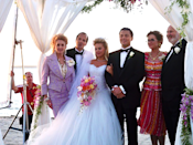 <p>While Leonardo DiCaprio and Margot Robbie's marriage in <em>The Wolf of Wall </em><em>Street</em> wasn't, um, great, at least Margot got to wear this gorge dress at the wedding. </p>