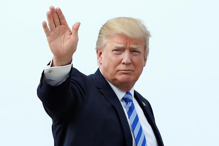 President Donald Trump boards Air Force One at Joint Base Andrews