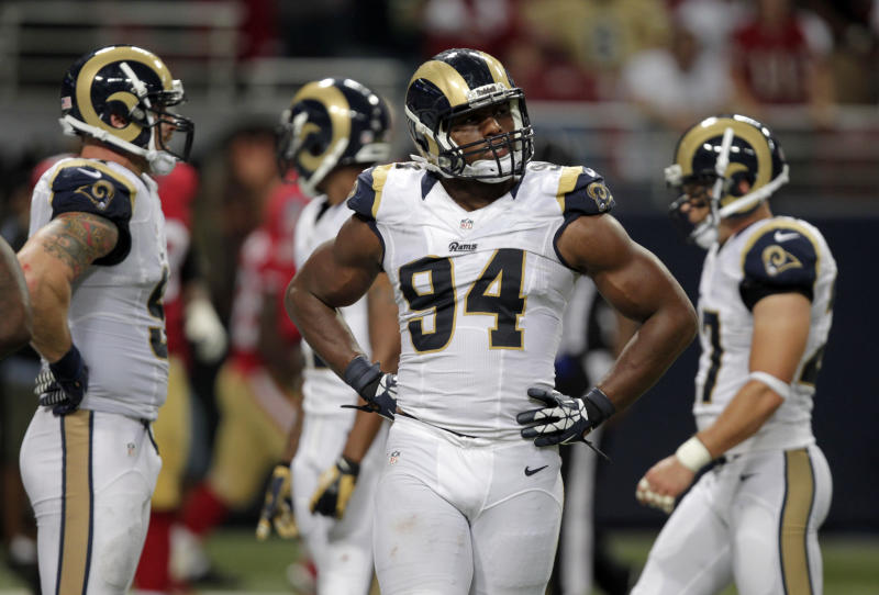 St. Louis Rams defensive end Robert Quinn's performance in 2013 was far and away the best of his career. (AP Photo/Tom Gannam)