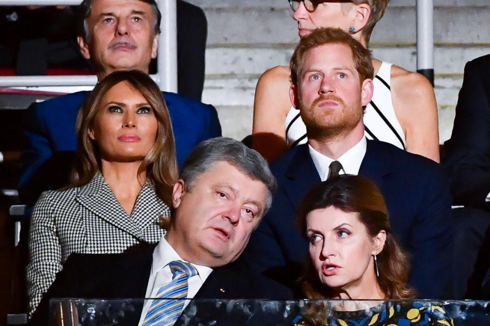 Prince Harry and Melania Trump at the Invictus Games opening ceremony. Photo: Getty