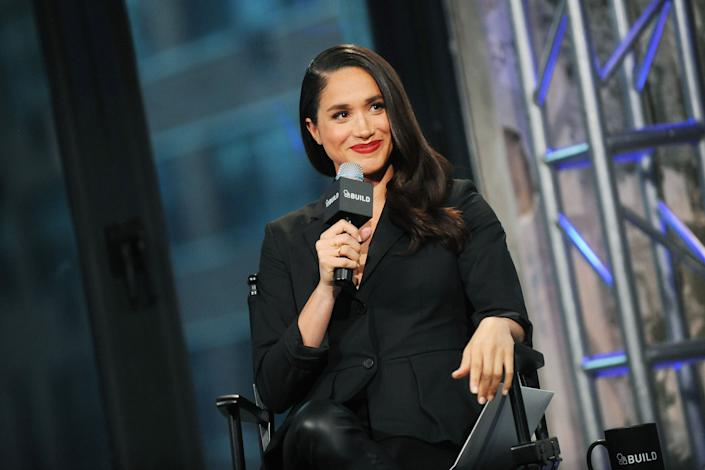 Meghan Markle onstage at AOL Build on March 17, 2016. (Photo: Desiree Navarro via Getty Images)
