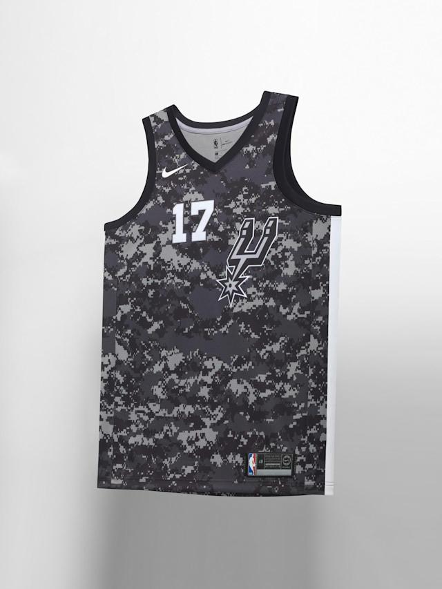 San Antonio Spurs City uniform. (Nike)