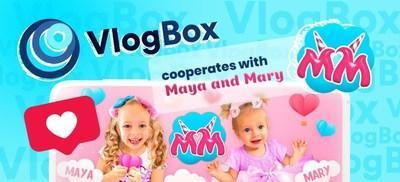 VlogBox Partners with Maya and Mary: Give a way to kids-vloggers on TV screens (PRNewsfoto/VlogBox)