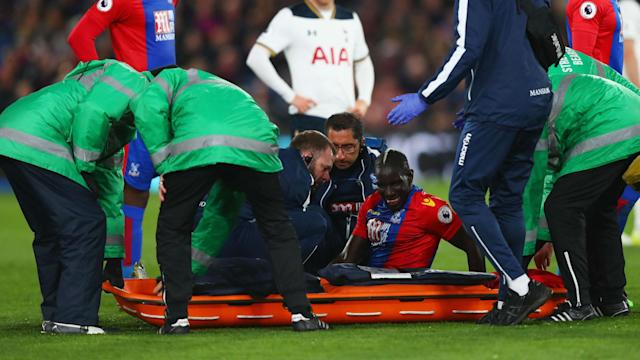 Following an injury in defeat to Tottenham, Crystal Palace boss Sam Allardyce was keen for an update on loan star Mamadou Sakho's fitness.