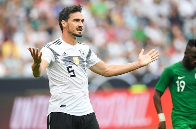 Mats Hummels is set to miss Germany's clash with Sweden with a neck problem