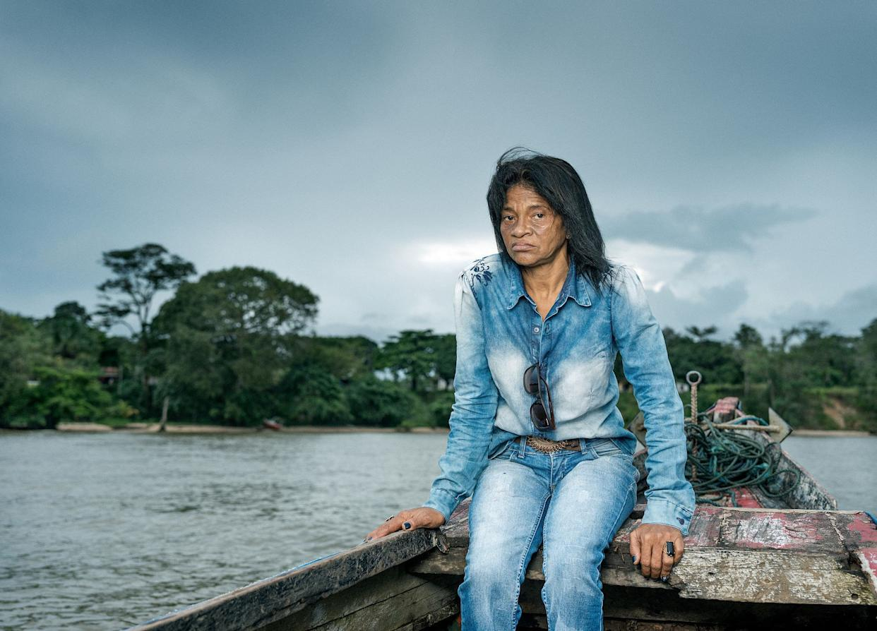Maria do Socorro campaigns with communities against hydro aluminum factories, which are allegedly responsible for water poisoning in the town of Barcarena, Brazil. (Photo: Thom Pierce Guardian Global Witness UN Environment)
