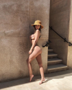 """<p>Emily loves sharing barely covered nipple pics on her Instagram feed. But this <a href=""""https://www.instagram.com/p/BgmKUw2lRUt/?taken-by=emrata"""" rel=""""nofollow noopener"""" target=""""_blank"""" data-ylk=""""slk:full body shot"""" class=""""link rapid-noclick-resp"""">full body shot</a> flies to the top as one of her sexiest moments for sure.</p>"""