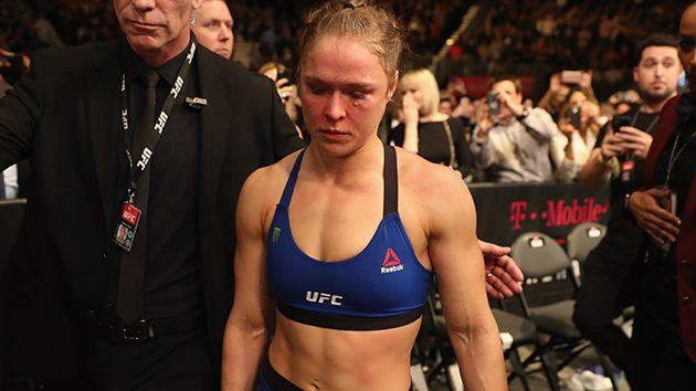 Rousey at UFC 207. Image: Getty