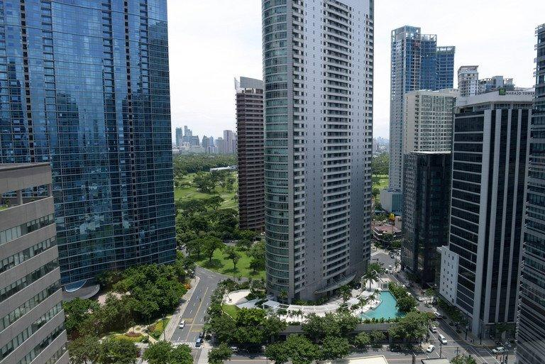 New office buildings in Manila, pictured on July 12, 2013. Dynamic growth and an expanding middle class are making Southeast Asian consumers among the most confident in the world when it comes to their economic prospects, a survey shows