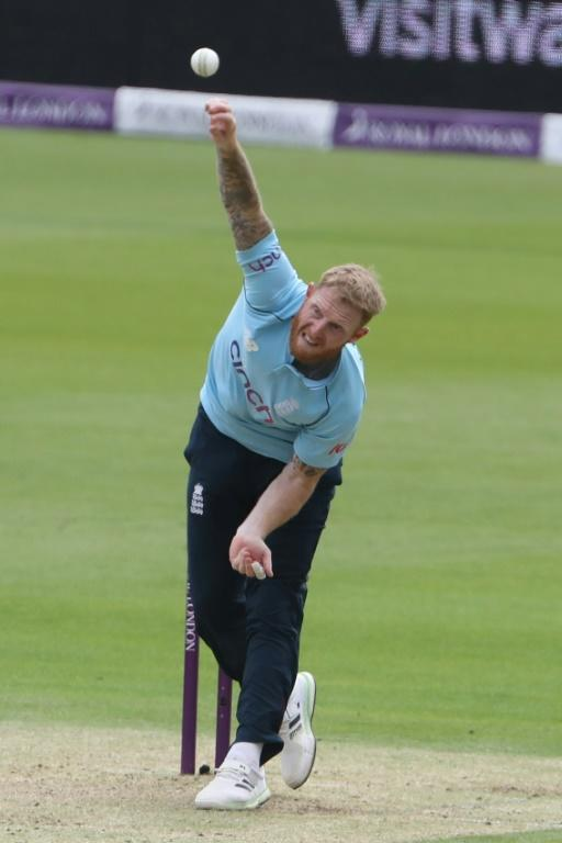 Lone over - England captain Ben Stokes bowls during the first one-day international against Pakistan